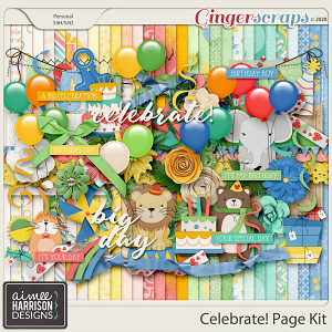 Celebrate Page Kit by Aimee Harrison