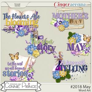 #2018 May - Word Art Pack by Connie Prince
