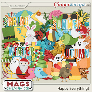 Happy Everything ELEMENTS by MagsGraphics