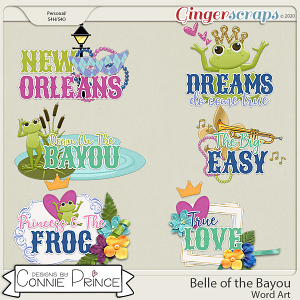 Belle of the Bayou - Word Art Pack by Connie Prince