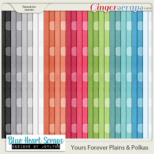 Yours Forever Plain & Polka Papers
