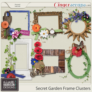 Secret Garden Frame Clusters by Aimee Harrison