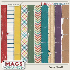 Book Nerd WORN PAPERS by MagsGraphics