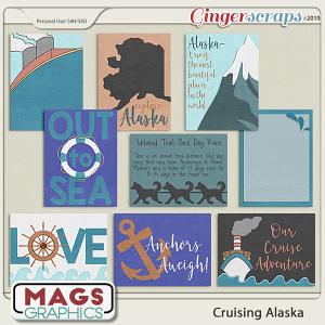 Cruising Alaska JOURNAL CARDS by MagsGraphics