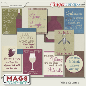 Wine Country JOURNAL CARDS by MagsGraphics