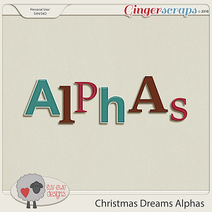Christmas Dreams Alphas by Luv Ewe Designs