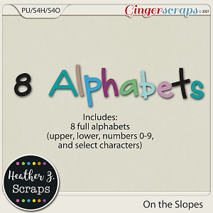 On the Slopes ALPHABETS by Heather Z Scraps