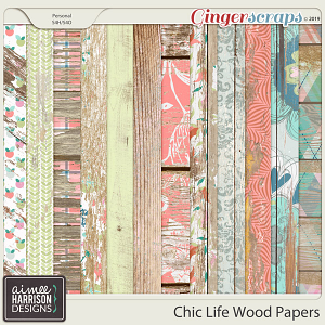 Chic Life Wood Papers by Aimee Harrison