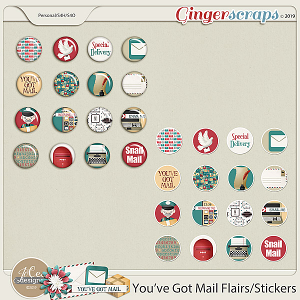 You've Got Mail Flairs & Stickers by JoCee Designs