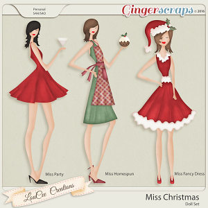 Miss Christmas Doll Set