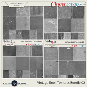 Vintage Book Textures Bundle 02 by Karen Schulz