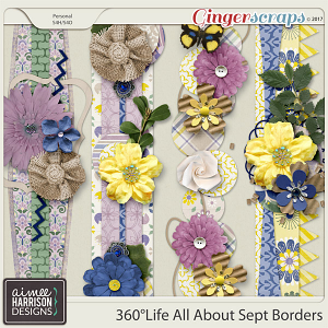 360°Life All About September Borders by Aimee Harrison