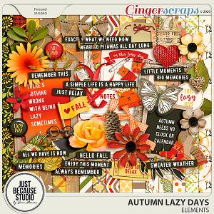 Autumn Lazy Days Page Kit by JB Studio