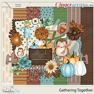 Gathering Together Digital Scrapbook Kit by Dandelion Dust Designs