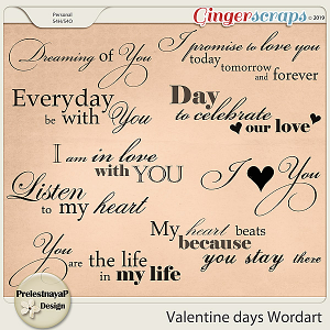 Valentine Day Wordart