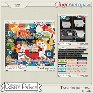 Travelogue Iowa - Bundle Pack by Connie Prince