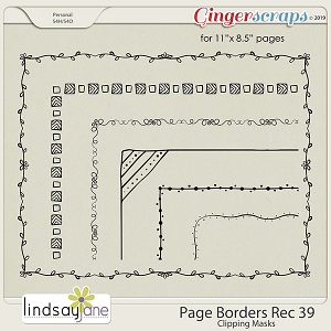 Page Borders Rec 39 by Lindsay Jane