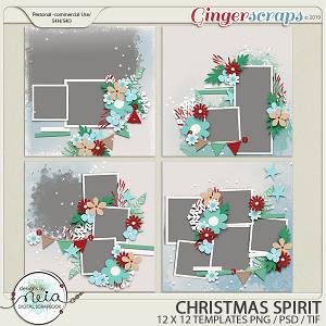 Christmas Spirit - Templates - by Neia Scraps