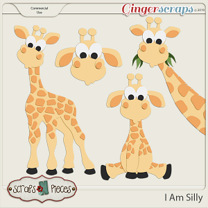 I Am Silly Giraffes CU Layered Templates - Scraps N Pieces
