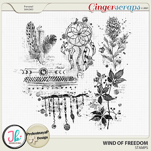 Wind Of Freedom Stamps by JB Studio and PrelestnayaP Design