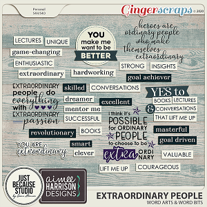 Extraordinary People Wordarts and Wordbits by JB Studio & Aimee Harrison