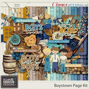 Boystown Page Kit by Aimee Harrison