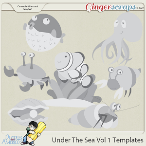 Doodles By Americo: Under The Sea Vol 1 Templates