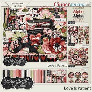 Love Is Patient Digital Scrapbooking Bundle