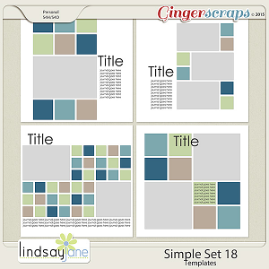 Simple Set 18 Templates by Lindsay Jane