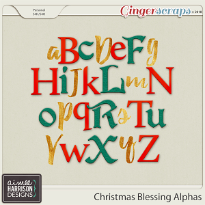 Christmas Blessing Alpha Sets by Aimee Harrison