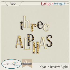 Year in Review Alphas by JoCee Designs and Laurie's' Scraps and Designs