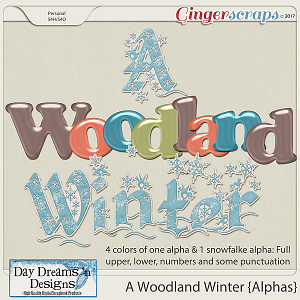 A Woodland Winter {Alphas} by Day Dreams 'n Designs