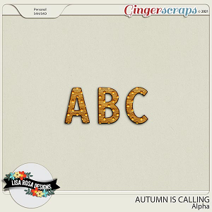 Autumn is Calling - Alpha by Lisa Rosa Designs