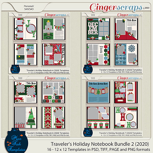 Holiday Travelers Notebook Bundle 2 -2020 Edition by Miss Fish