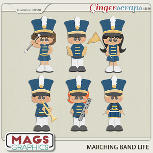 Marching Band Life BLUE BAND by MagsGraphics