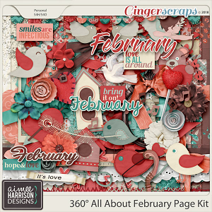 360°Life All About February Page Kit by Aimee Harrison