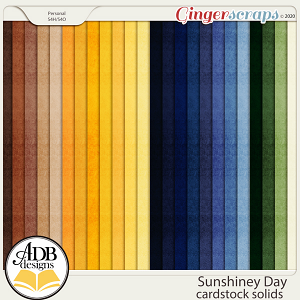 Sunshiney Day Solid Papers by ADB Designs
