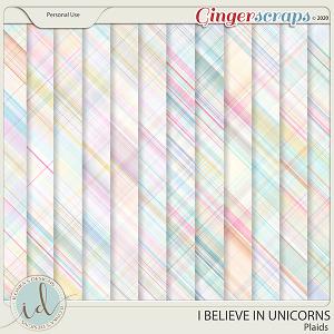 I Believe In Unicorns Plaids by Ilonka's Designs