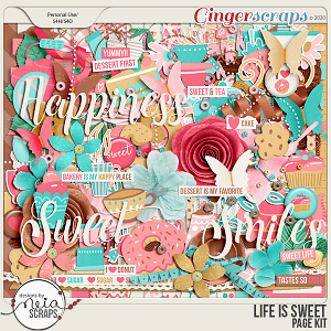 Life is Sweet - Page Kit - by Neia Scraps