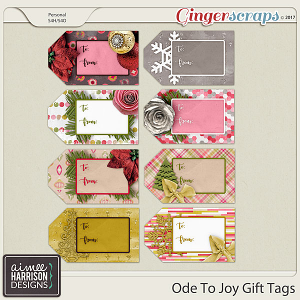 Ode to Joy Gift Tags by Aimee Harrison