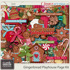 Gingerbread Playhouse Page Kit by Aimee Harrison