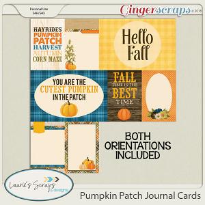 Pumpkin Patch Journal Cards