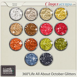 360°Life All About October Glitters by Aimee Harrison