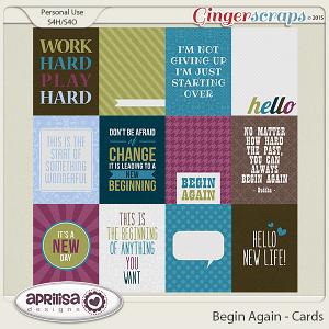 Begin Again - Cards by Aprilisa Designs