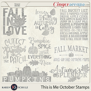 This is Me October Stamps by Karen Schulz