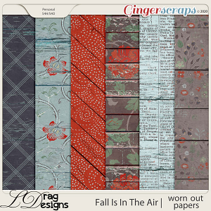 Fall Is In The Air: Worn Out Papers by LDragDesigns