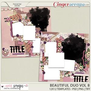 Beautiful Duo - Templates - VOL 8 - by Neia Scrap