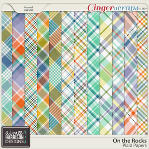 On the Rocks Plaid Papers by Aimee Harrison