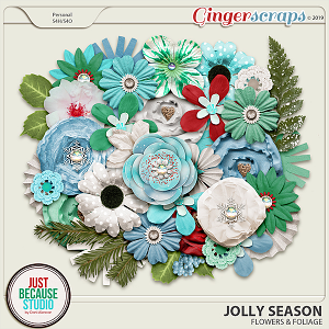 Jolly Season Flowers & Foliage by JB Studio