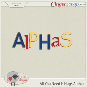 All You Need Is Hugs Alphas by Luv Ewe Designs